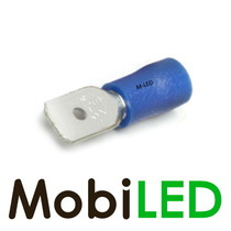 10x M-LED PVC Kabelschoen man half geïsoleerd 1.5-2.5mm² (6,3x0,8 mm) blauw