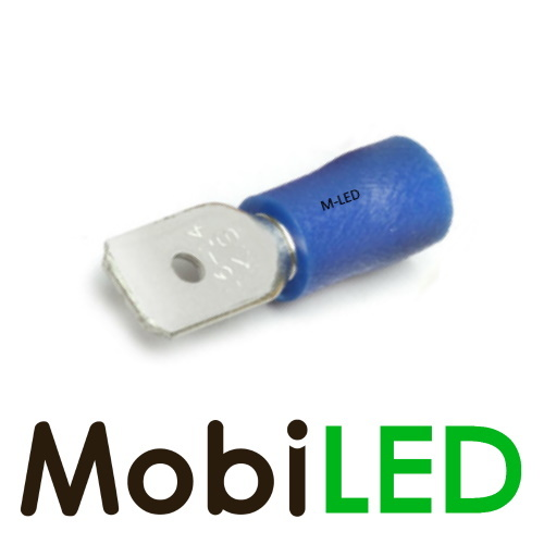 M-LED 10x M-LED PVC Cosse à sertir mâle pré-isolé 1.5-2.5mm² (6,3x0,8 mm) bleu
