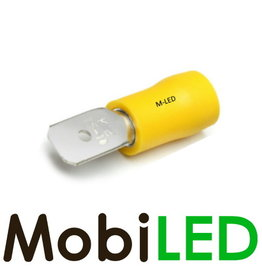 M-LED 10x Man half geïsoleerd 4-6mm²  (6,3x0,8mm) geel