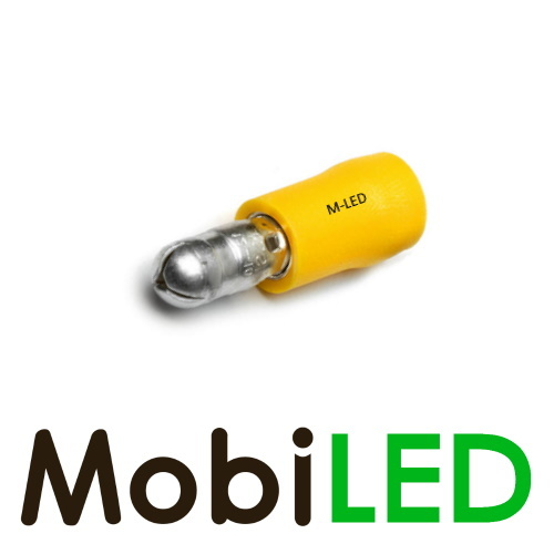 M-LED 10x M-LED PVC Cosse à sertir rond mâle pré-isolé 4-6mm² (5 mm) jaune