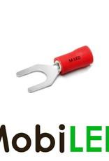 M-LED 10x M-LED PVC Kabelschoen vork half geïsoleerd 0.5-1.5mm² (4,3 mm) rood