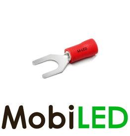 M-LED 10x Vork half geïsoleerd 0.5-1.5mm² (4,3mm) rood