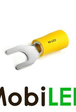M-LED 10x M-LED PVC Kabelschoen vork half geïsoleerd 4-6mm² (4,3 mm) geel