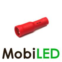 10x M-LED PVC Kabelschoen rond vrouw  geïsoleerd 0.5-1.5mm² (4 mm) rood