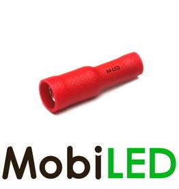M-LED 10x Rond femelle  isolé 0.5-1.5mm² (4mm) rouge