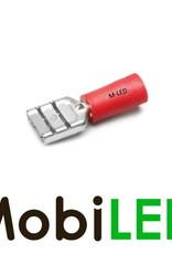 M-LED 10x M-LED PVC Kabelschoen man half geïsoleerd 0.5-1.5mm² (6,3x0,8 mm) rood