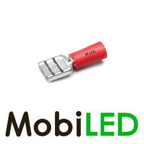 10x M-LED PVC Kabelschoen man half geïsoleerd 0.5-1.5mm² (6,3x0,8 mm) rood