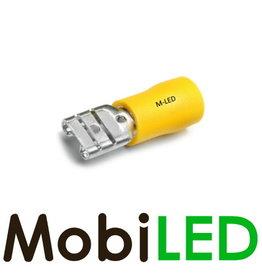 M-LED 10x Vrouw deels geïsoleerd 4-6mm² (6,3x0,8mm) geel