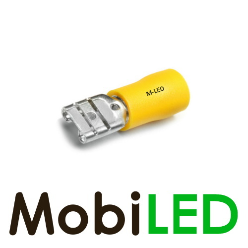 M-LED 10x M-LED PVC Kabelschoen man half geïsoleerd 4-6mm² (6,3x0,8 mm) geel