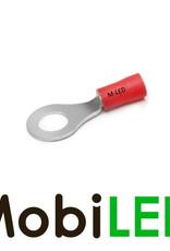 M-LED 10x M-LED PVC Cosse à sertir bague pré-isolé 0.5-1.5mm² (4,3 mm) rouge