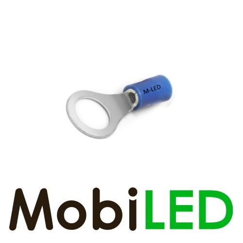 M-LED 10x M-LED PVC Cosse à sertir bague pré-isolé 1.5-2.5mm² (6,4 mm) bleu