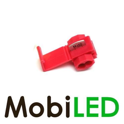 M-LED 10x M-LED PVC Kabelverbinder splitter 0.5-1.0mm² rood