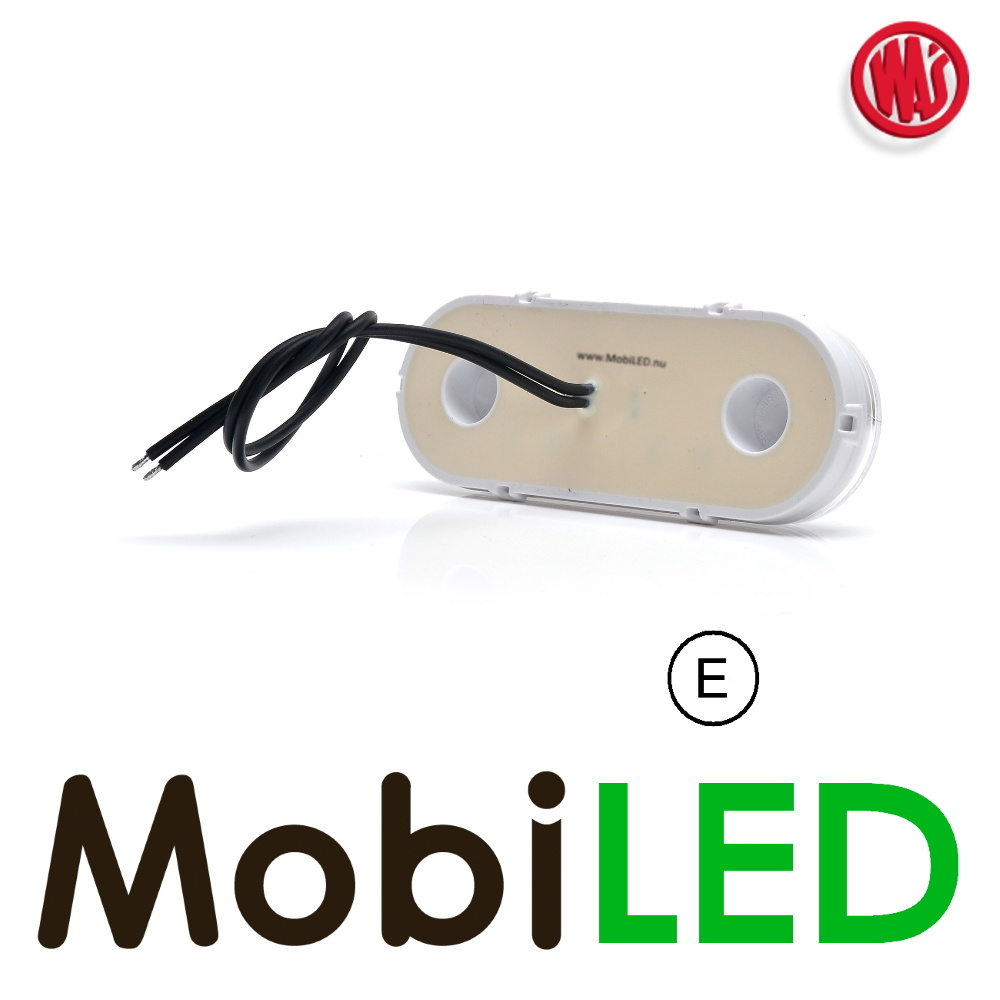"""WAS LED zijmarkering """"NEON"""" rand rond  wit - E-Keur"""