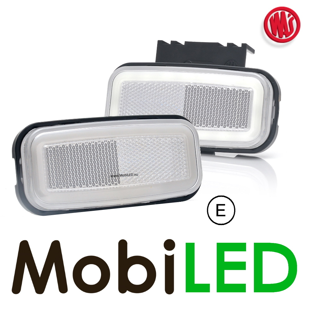 """WAS LED zijmarkering """"NEON"""" rand  wit - E-Keur"""