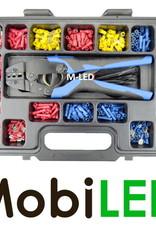 Professionele kabelschoenenset met tang, +/- 550 stuks