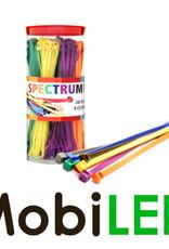 Kabelbinders 200 x 4.8mm 8 kleuren, 320 stuks totaal