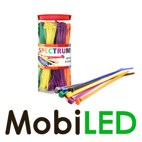 Serre-câbles 200 x 4,8 mm 8 couleurs, 320 pièces au total