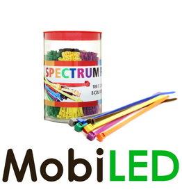 800 pièces Serre-câbles 100 x 2.5 mm 8 couleurs