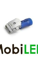 M-LED 100x M-LED PVC Cosse à sertir ferroutages pré-isolé 1.5-2.5mm² (6,3x0,8 mm) bleu