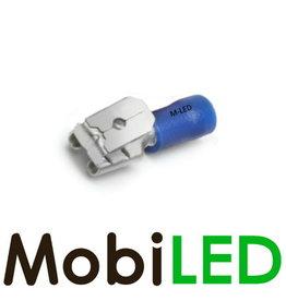 M-LED 100x Piggybacks half geïsoleerd 1.5-2.5mm² (6,3x0,8mm) blauw