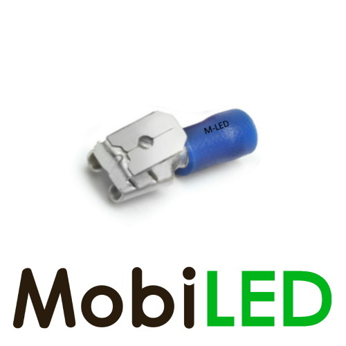 M-LED 100x M-LED PVC Kabelschoen piggybacks half geïsoleerd 1.5-2.5mm² (6,3x0,8 mm) blauw