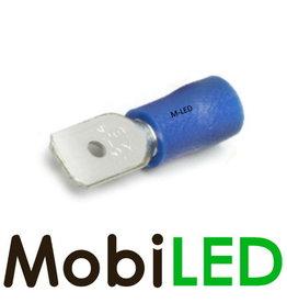 M-LED 100x Man half geïsoleerd 1.5-2.5mm²  (6,3x0,8mm) blauw