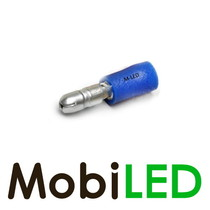 100x M-LED PVC Kabelschoen rond man half geïsoleerd 1.5-2.5mm² (4 mm) blauw