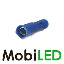 100x M-LED PVC Kabelschoen rond vrouw half geïsoleerd 1.5-2.5mm² (4 mm) blauw