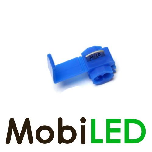 M-LED 100x M-LED PVC Connecteur de câble séparateur 0.75-2.5mm² bleu