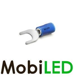 M-LED 100x Vork half geïsoleerd 1.5-2.5mm² (6,4mm) blauw
