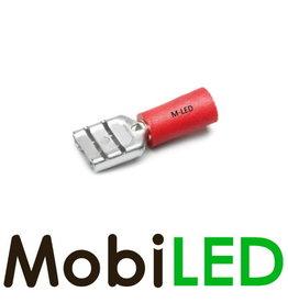 M-LED 100x Vrouw deels geïsoleerd 0.5-1.5mm² (6,3x0,8mm) rood