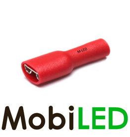 M-LED 100x Vrouw geïsoleerd 0.5-1.5mm² (6,3x0,8mm) rood