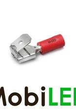M-LED 100x M-LED PVC Kabelschoen piggybacks half geïsoleerd 0.5-1.5mm² (6,3x0,8 mm) rood