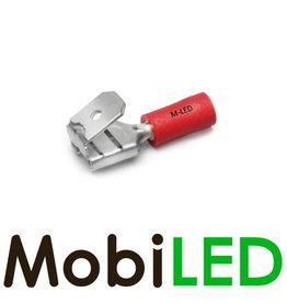 M-LED 100x Ferroutages pré-isolés 0.5-1.5mm² (6,3x0,8mm) rouge