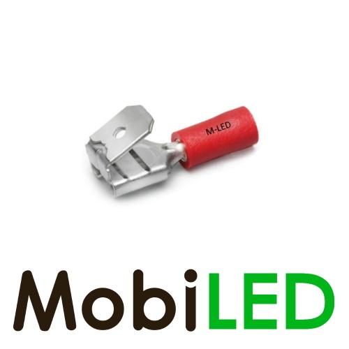 M-LED 100x M-LED PVC Cosse à sertir ferroutages pré-isolé 0.5-1.5mm² (6,3x0,8 mm) rouge