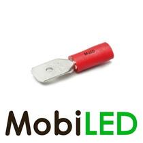 100x M-LED PVC Cosse à sertir mâle pré-isolé 0.5-1.5mm² (6,3x0,8 mm) rouge