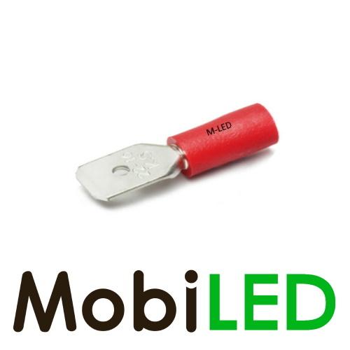 M-LED 100x M-LED PVC Cosse à sertir mâle pré-isolé 0.5-1.5mm² (6,3x0,8 mm) rouge