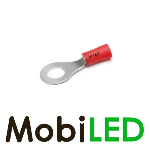 M-LED 100x M-LED PVC Kabelschoen ring half geïsoleerd 0.5-1.5mm² (6,4 mm) rood