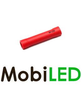 M-LED 100x Stootverbinder geïsoleerd  0.5-1.5mm² rood