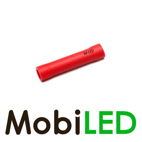 M-LED 100x M-LED PVC Cosse à sertir connecteur bout à bout isolé 0.5-1.5mm² rouge