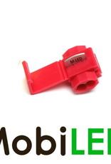 M-LED 100x M-LED PVC Kabelverbinder splitter 0.5-1.0mm² rood