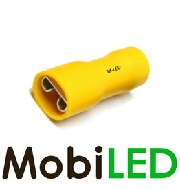 M-LED 100x Vrouw geïsoleerd  4-6mm² (6,3x0,8mm) geel