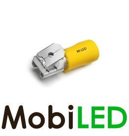 M-LED 100x Piggybacks half geïsoleerd 4-6mm² (6,3x0,8mm) geel