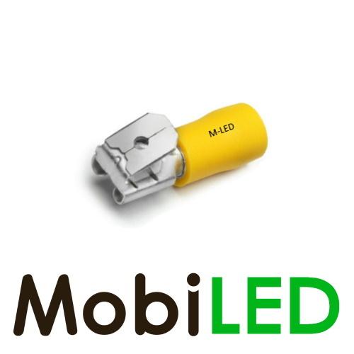 M-LED 100x M-LED PVC Kabelschoen piggybacks half geïsoleerd 4-6mm² (6,3x0,8 mm) geel