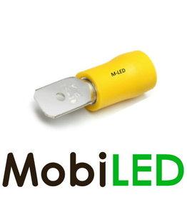 M-LED 100x Mâle pré-isolé 4-6mm²  (6,3x0,8mm) jaune