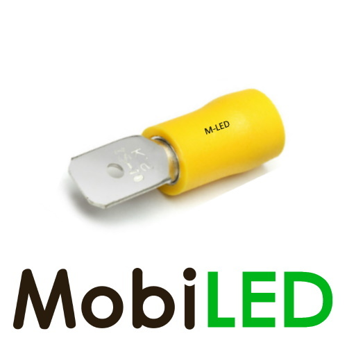 M-LED 100x M-LED PVC Kabelschoen man half geïsoleerd 4-6mm² (6,3x0,8 mm) geel