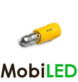 M-LED 100x Rond mâle pré-isolé 4-6mm² (5mm) jaune