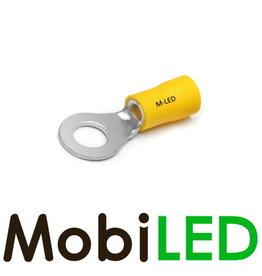 M-LED 100x Ring half geïsoleerd 4-6mm² (6,4mm) geel