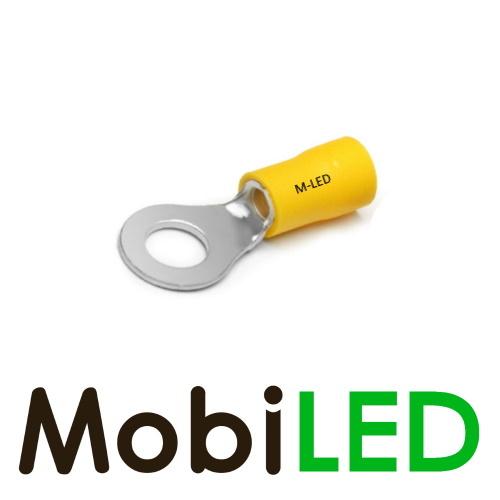 M-LED 100x M-LED PVC Kabelschoen ring half geïsoleerd 4-6mm² (6,4 mm) geel