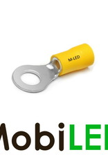 M-LED 100x M-LED PVC Kabelschoen ring half geïsoleerd 4-6mm² (10,5 mm) geel